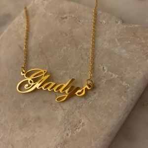 "Jewelry - Personalized name necklace ""Gladys"""